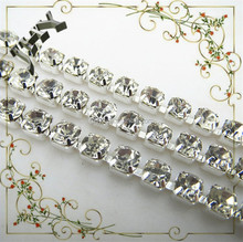 Anneiversary Engagement Gift Party Wedding Decoration And Crystal Rhinestone Necklace Plain Chain