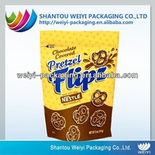 customized stand up plastic bag press seal