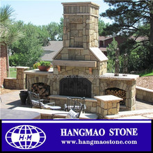 Fashion Style Cheap Natural Stone Outdoor Fireplace