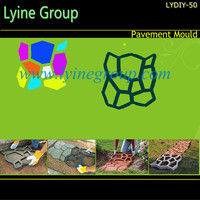 Lyine concrete cement pathway walk pattern paving plastic stone for garden walkway