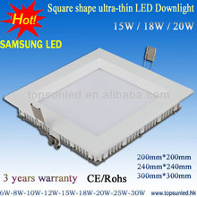 china top ten selling products 20w residential lighting ultra-thin square led downlights uk