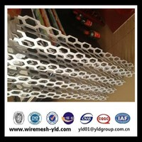 pvc coated white aluminum perforted metal sheet of hexagonal with 3d wallpap for manufacture