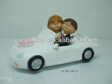 wedding car cartoon couple figure cake topper wedding decoration and gifts