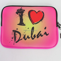 2015 Top quality neoprene laptop bag with Zipper,sublimation bag for iPad
