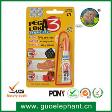Fast Dry 502 Super Glue Mighty Bond Shoes Glue In Plastic Bottle