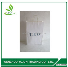 White Kraft Paper Bags With Carrier