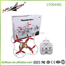 2015 wholesale thunderbird 2.4G 4 channel 4-axis ufo aircraft rc mini quadcopter drone helicopter with hd 0.3MP 2MP camera kit