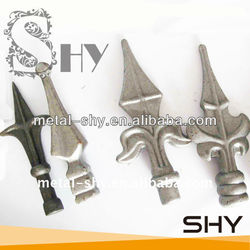 Ornamental Wrought Iron Spearhead Iron Fence Finials,Metal Fence Finial