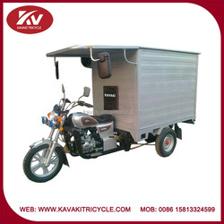 Wholesale powerful white150cc air-cooled tricycle with wagon with closed cargo box