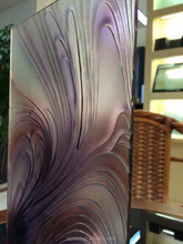 Sale 5-19mm Purple Karatachi pattern /Art Pattern Embossed glass