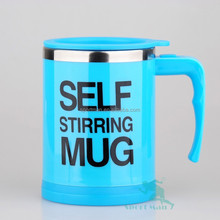 Plain Lazy Self Stir Cup Ideal Gift NO SPOON NEEDED Mug