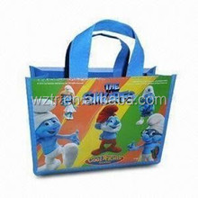 top quality !!pp woven shopping tote bag with new laminated