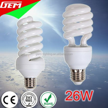 5-105Watt Lotus U Globe Spiral Shapes 6500K CFL Light Bulbs Daylight