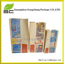 Customised recycled take away fast kraft food paper bag packaging