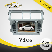dvd auto 2din 7 inch for double din car radio player for toyota vios