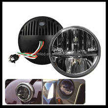 "7"" 36w Round Led Headlight Assembly With 7 Inch Halo Angel Eyes, auto H4 Hi/Low DRL Led Headlamp Kit for Jeep Wrangler"