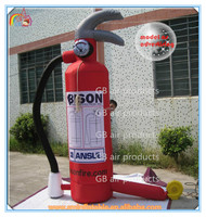 Factory price giant inflatable fire extinguisher,cheap inflatable chplastic bottle for advertising to sale