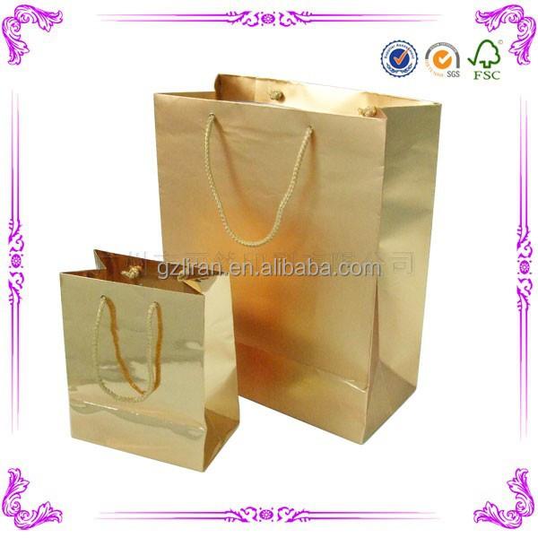 wholesale custom printed folded paper shopping bag
