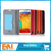 Best price 2014 new designed soft touch top quality real leather for samsung s4 9500/s5/note 2/note 3 case wholesale
