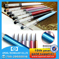 2in1 diamond capacitive touch stylus pen for ipad