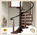 escada de espiral de corrimãos de escada em espiral