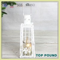 China Supplier Metal And Glass Free Standing Candle Lantern