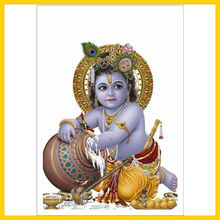 high quality 24 k Religious gold foil poster /gold foil hindu god picture high quality