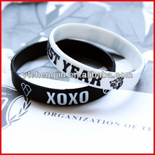 A class thick football team silicone bracelets no minimum