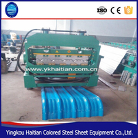 Full Auto Hydraulic Arch Curving Roof Sheet Steel curved roof forming machine