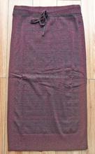Señoras moda vestido hilado nylon lurex mezclado cordón jersey maxi de punto falda