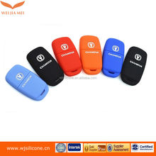Top quality key case or cover for Transponder Key With chip Silca: HU100 opel silicone car key cover