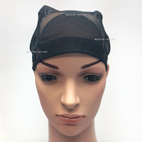 Beauties Factory Adjustable Straps DIY Wig Weaving Cap One Size Fit All Net Mesh Full Cap