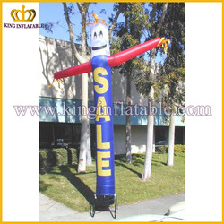 blue 6m mini inflatable air tube ,outdoor inflatable fly guy air dancer material