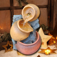 2015 NEW Style Resin Water Fountain Small Wholesale Christmas Decorations