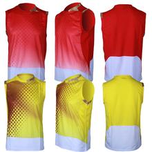 Customized design sublimated basketball uniforms basketball tops
