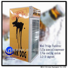 table top commercial display mini refrigerator manufacturers