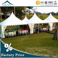 Wind resistant gazebo 5x5 for outdoor event with garden furniture