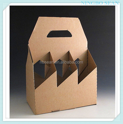 Hot selling cardboard wine carriers made in China