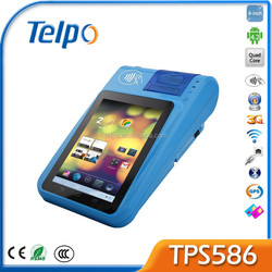 Telpo New Product TPS 586 A9 Quad Core Android4.2 Touch Pos Rfid Handheld Reader Mini Printer