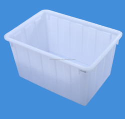 HDPE rectangular food grade nestable PE container for storage usage