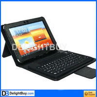 2in1 Bluetooth 2.0 Silicone Keyboard + Folding Leather Protective Case for Samsung Galaxy Tab 10.1 / P7500 / P7510