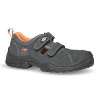 PU solo suede leather holed sandal safety shoes with anti-perforation function