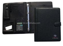 Portflio padfolio with zipper briefcase bags portfolio organizer notebook size A4/A5