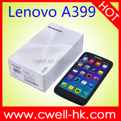 Wholesale HotLenovo A399 Phone 5 Inch MTK6582 1.3GHz 3G Dual SIM Card Mobile Phone