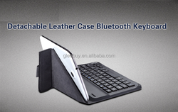 ABS bluetooth keyboard with detachable leather case for ipad mini