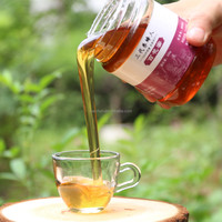 100 % Natural Bottle Flowers Honey of supersaturated sugar solution