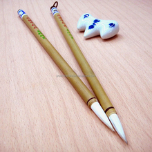 Excellent white Chinese writing brush pen with fine handle