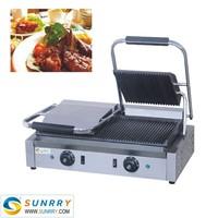 Industrial panni grill sandwich maker machine for pressing sandwich (SUNRRY SY-GR62C)