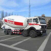 North Benz self load concrete mixer truck volume of a concrete truck