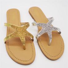 rhinestone ladies high heel beach slipper with silk